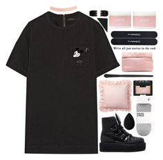 """""""mickey mouse"""" by taraturk ❤ liked on Polyvore featuring Marc Jacobs, Forever 21, Pottery Barn, Puma, H&M, NARS Cosmetics, beautyblender, Marie Turnor, Aerie and MAC Cosmetics"""