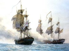 Ship paintings Lets start a nice collection of beautiful ship paintings. Post artist or painting name if you know it. Golden Age Of Piracy, Old Sailing Ships, Ship Paintings, Man Of War, Naval History, Wooden Ship, Military Diorama, Nautical Art, Tug Boats