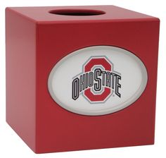 NCAA Ohio State Ohio State University Tissue Box Cover