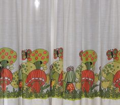 Vintage Merry Mushroom Curtains by 2mnedolz, via Flickr