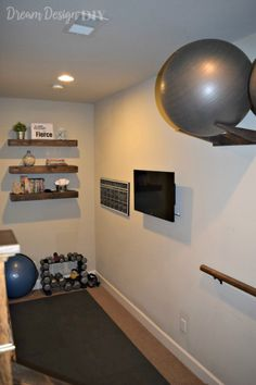 One Room Challenge - Reveal Week: Workout Room - Dream Design DIY