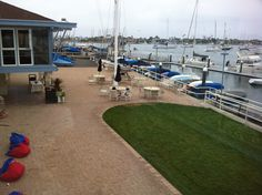 The view from the Balboa Yacht Club.