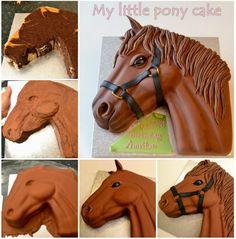 Pony cake, amazing ! <3 Instructions-- > http://wonderfuldiy.com/wonderful-diy-pony-cake-with-template/