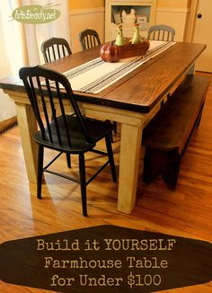 ART IS BEAUTY: How to build your own FarmHouse Table for under $1...