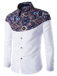 Cheap camisa hombre, Buy Quality men brand dress shirt directly from China mens dress shirts Suppliers: Luxury Brand Mens Dress Shirts 2016 Fashion Floral Printed Long Sleeve Men Shirt Chemise Homme Casual Stylish Camisas Hombre African Shirts For Men, African Dresses Men, African Men Fashion, Fashion Men, Urban Fashion, Autumn Fashion, Fashion Photo, Style Fashion, Fashion Online
