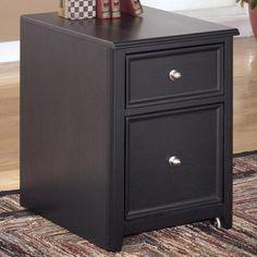 Carlyle File Cabinet in Almost Black | Nebraska Furniture Mart