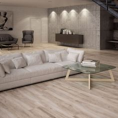 Create a spa styled natural look in your home with these Fallow Walnut Wood Effect Tiles. Wood Plank Tile, Wood Planks, Wood Effect Floor Tiles, Tile Floor, Porcelain Wood Tile, Porcelain Floor, Hardwood Floors, Flooring, Grey Wood