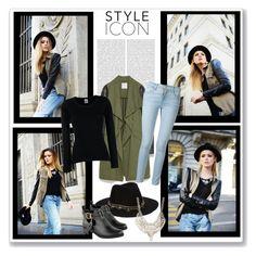 """Style Icon: Kristina Bazan"" by malinda108 ❤ liked on Polyvore featuring Zara, Fruit of the Loom, Frame Denim, ASOS, Jane Norman, Oris, kayture and styleicon"