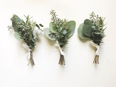 These greenery wedding boutonnieres are a simple boutonniere for grooms and boutonniere for groomsmen that are perfect for a spring wedding, summer wedding or fall wedding. Floral Wedding, Fall Wedding, Wedding Colors, Wedding Bouquets, Rustic Wedding, Wedding Flowers, Wedding Ideas, Trendy Wedding, Wedding Greenery
