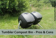 Pros and cons of tumbler compost bins Urban Composting, Composting Bins, Compost Tumbler, Riding Helmets, Wordpress, Gardening, Lawn And Garden, Horticulture