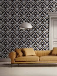 Jupiter 10 merges eye-catching color palettes with a modernist feel by putting a fresh spin on mid-century modern ideas in their new wallcoverings. Casamance, Focal Wall, Medan, Designer Wallpaper, Wallpaper Designs, Elle Decor, Cool Wallpaper, Interiores Design, Decoration