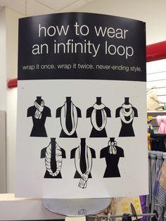 Infinity scarf tying ideas