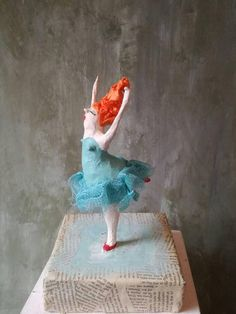 Sieh dir dieses Produkt an in meinem Etsy-Shop https://www.etsy.com/de/listing/580098981/tanzerin-ballerina-tanzen-in-turkis
