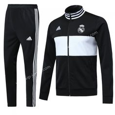 17f351ade40 2018-19 Real Madrid Black Soccer Jacket Uniform