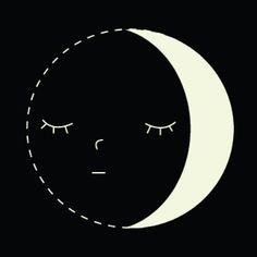 Sleepy Moon Illustration - By Alysha Dawn