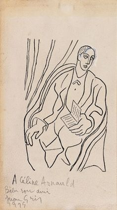 Juan Gris Spanish Artists, Line Drawing, Graphic Art, It Works, Gray