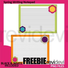 Free Spring Writing Notepad Template. Fun clip art for making spring activity and center. Get more fun clipart from REVIDEVI! Join these spring clubs! Club for Alphabet Clip Art Link-Alphabet Clip Art - Spring Club