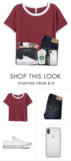 """""""AOTD"""" by annelieseoh ❤ liked on Polyvore featuring Hollister Co., Converse, Speck and NYX"""