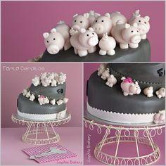 Pig Cake. Tarta Cerditos.