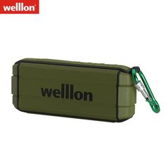 Welllon 10W Water Resistant Portable Outdoor Bluetooth Wireless Speaker with Hook Enhassed Bass Sound SD TF Card Hands-free