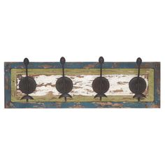 Wall hook with a warmly weathered finish.   Product: Wall hookConstruction Material: Wood and metalColor: ...