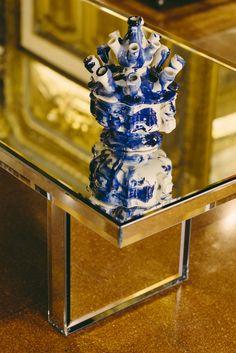 "PRISM MIRROR high tablea design Tokujin Yoshioka, Glas Italia collection. On show at WUNDERKAMMER exhibition - lifestylestore ""Via Garibaldi 12"" in Genoa. Until October 17, 2015 www.viagaribaldi12.com #prismmirror #tokujinyoshioka #glasitalia #mirror #viagaribaldi12 | ph #cartacarbonestudio"