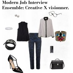 Modern Job Interview Ensemble: Creative X visionner.