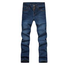 Men Casual Jeans Slim Straight