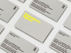 Self-titled brand identity - Business Cards.