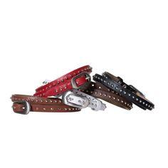 Dos | TOKYObay Bracelets - Double Wrap Studded Leather Bracelets.