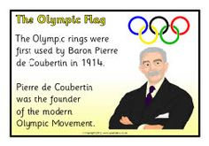 Olympic symbols information posters