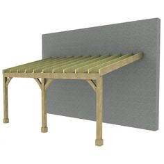 7m Lean to Carport - Post & Beam - Green Oak or Douglas Fir -