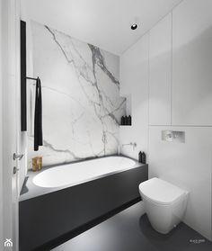 Apartament Klasyczny - Mała łazienka w bloku bez okna, styl minimalistyczny - zdjęcie od Black Deer Workshop Magdalena Śliwka - homebook