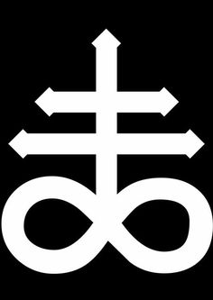 The Satanic Cross (also known as the Leviathan cross) is a variation of the alchemical symbol for black sulfur, that represents fire and brimstone. The symbol was placed above the Nine Satanic Statements in The Satanic Bible, and has since then become a symbol associated with Satanism.