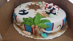 Beach nautical cake