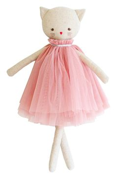 Alimrose Aurelie Linen Cat Doll, sophisticated cat doll dressed in a removable tulle dress, Made of linen & cotton outer. Tutu Rose, Childrens Shop, Cat Dresses, Cat Doll, Sewing Dolls, Diy Toys, Fabric Dolls, Stuffed Toys Patterns, Handmade Toys