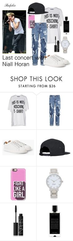 """Last concert with Niall Horan "" by ralphie-2 ❤ liked on Polyvore featuring Moschino, One Teaspoon, MANGO, Casetify, Kate Spade, NARS Cosmetics, Agonist, concert, OneDirection and like"