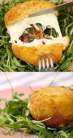 DIY Rezept für gefüllten Mozzarella! Diy Recipe, Party Finger Foods, Party Snacks, Charcuterie, Appetizer Recipes, Snack Recipes, Burger Recipes, Yummy Snacks, Yummy Food