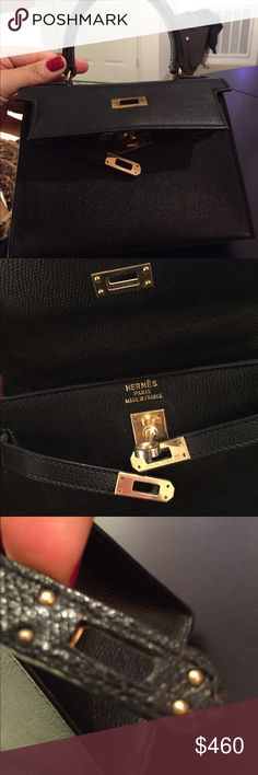 476af34c1c Hermes Kelly This is a very old Hermes Micro mini bag. Very very small.