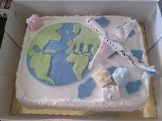 Travelers birthday cake