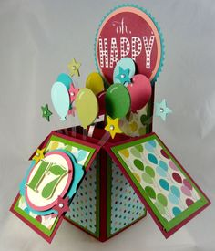 1000 images about pop up boxes on pinterest in a box for Pop up geburtstagskarte