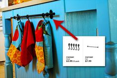 easy towel rack or swimsuit hooks for by the pool