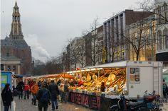 Vismarkt -  The fish market in the center of Groningen