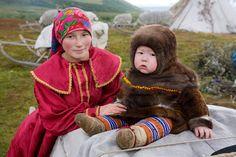 kristina neyva, a young khanty woman, in the polar ural mountains   yamal, western siberia, russia   foto:   bryan & cherry alexander