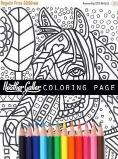 70% Off Today- Horse Equine coloring, coloring book, adult coloring book, coloring pages, coloring book for adults, printable coloring pages