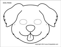 Six free printable dog and puppy masks to color and craft into wearable paper masks. Animal Mask Templates, Printable Animal Masks, Dog Template, Templates Printable Free, Dog Coloring Page, Animal Coloring Pages, Duck Mask, Puppy Crafts, Animal Crafts For Kids