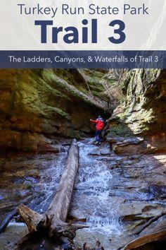 Park Trails, Hiking Trails, Turkey Run State Park, Steep Rock, Trail Guide, Suspension Bridge, Wooden Decks, Bouldering, State Parks