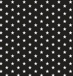 by Poppy designed for you Katoen Poplin, Petit Stars Black
