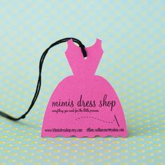 Little Dress Shaped Hang Tags - Personalized - Set of 24 Party Favor Tags, Gift Tags, Party Favors, Swing Tag Design, Swing Tags, Dress Shapes, Personalized Tags, Label Design, Package Design