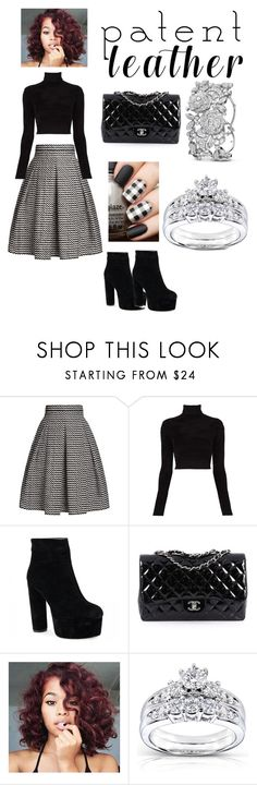 """#Blackout"" by amournaj ❤ liked on Polyvore featuring Rumour London, A.L.C., Chanel and Kobelli"
